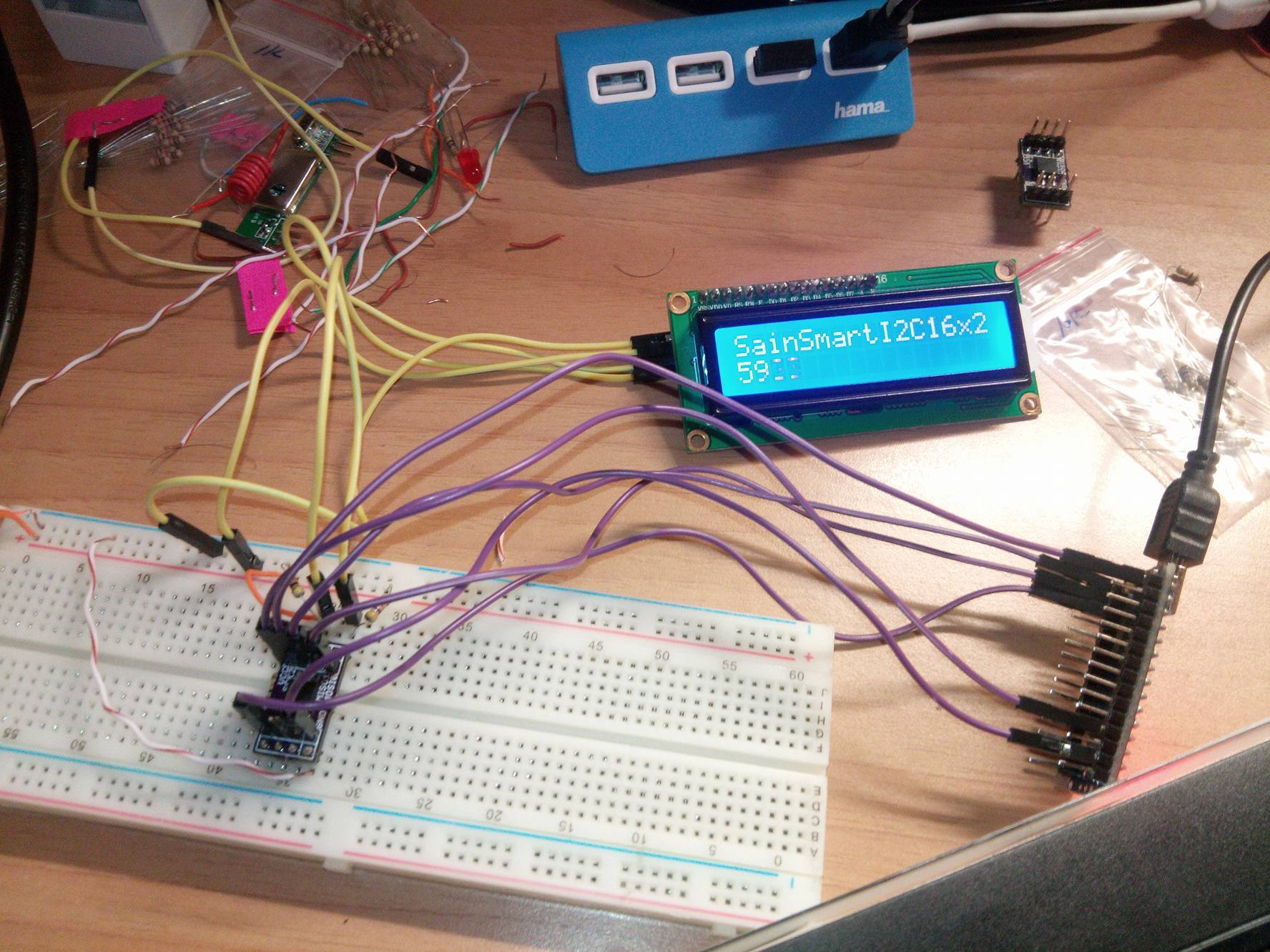 Attiny85 LCD with I2C working